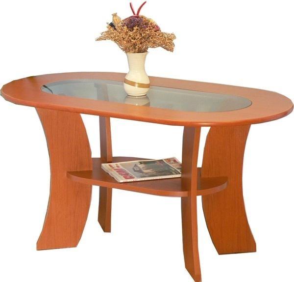 Konferenční stolek - skleněný K 46 (Rustikál/Sklo)
