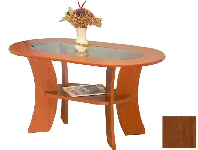Konferenční stolek - skleněný K 46 (Třešeň/Sklo)