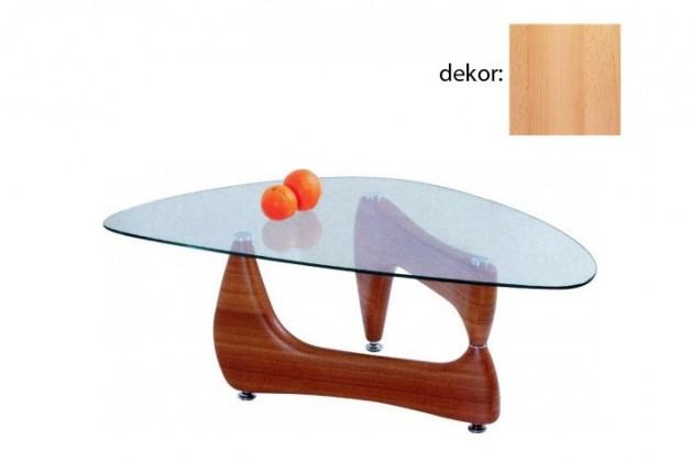 Konferenční stolek - skleněný Karen (buk)