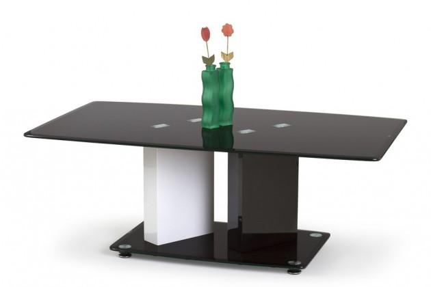 Konferenční stolek - skleněný Konferenční stolek Debra (bílá/ černá)