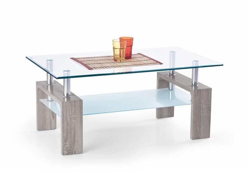 Konferenční stolek - skleněný Konferenční stolek Diana Intro (tmavý dub sonoma)