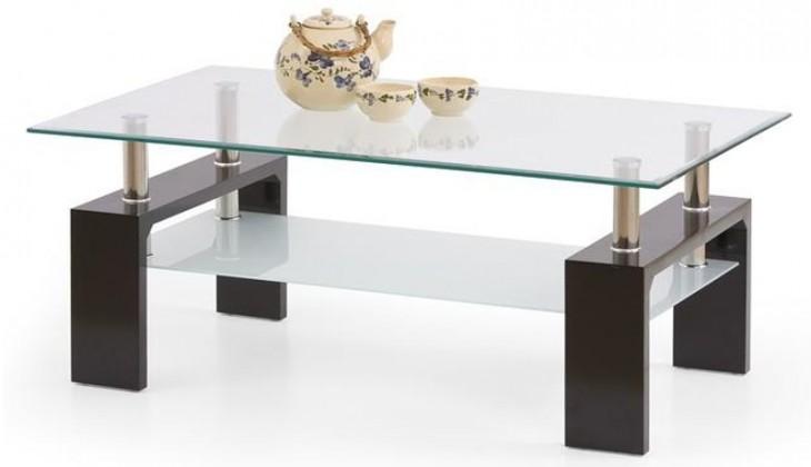 Konferenční stolek - skleněný Konferenční stolek Diana Intro (wenge)