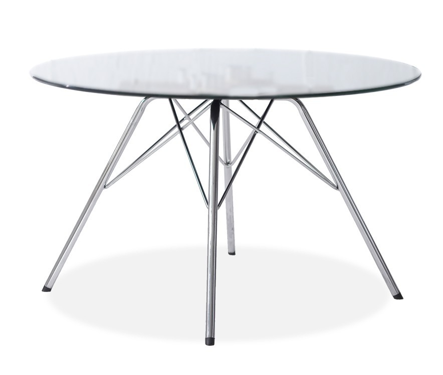 Konferenční stolek - skleněný LOLA 9307-090+PORGY 9346-091 (čiré sklo,černá)