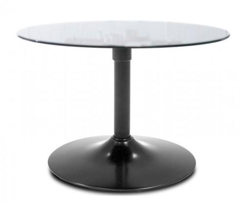 Konferenční stolek - skleněný LOLA 9307-090+TRUMPET 9341-824 (čiré sklo,černá)