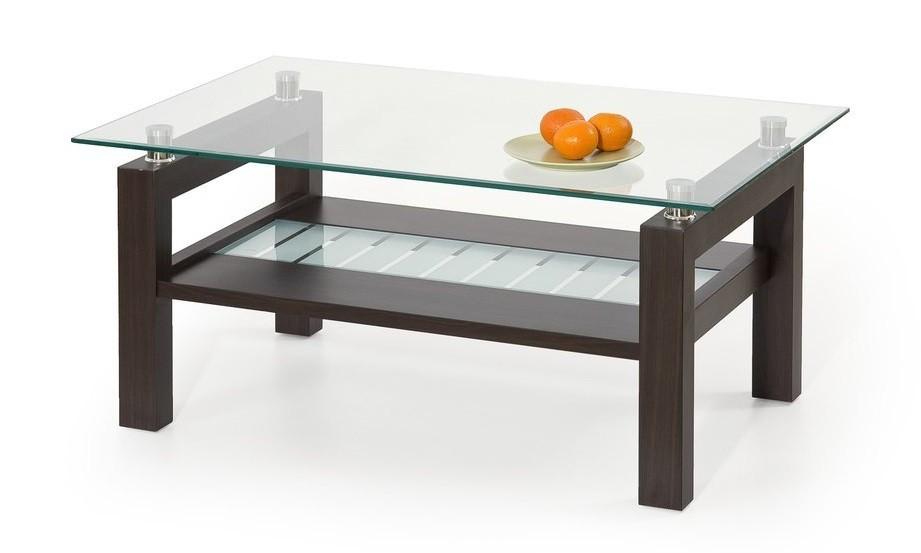 Konferenční stolek - skleněný Martina(wenge)