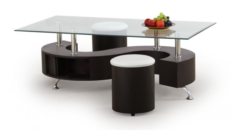 Konferenční stolek - skleněný Nina(wenge)