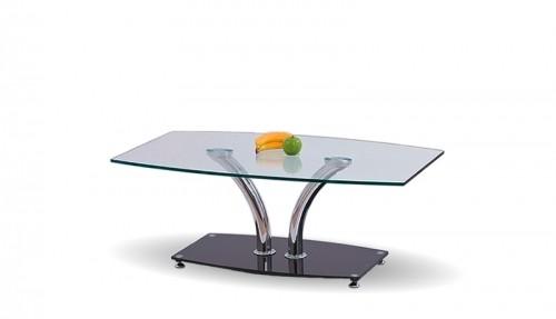 Konferenční stolek - skleněný PAULA (Chrom/Sklo)