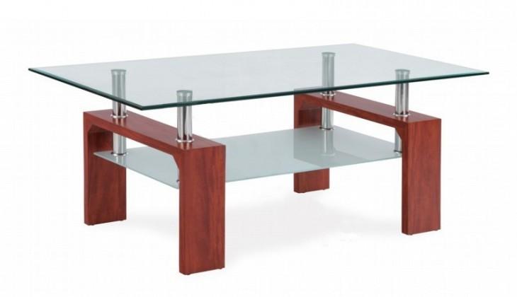 Konferenční stolek - skleněný Simona (třešeň)
