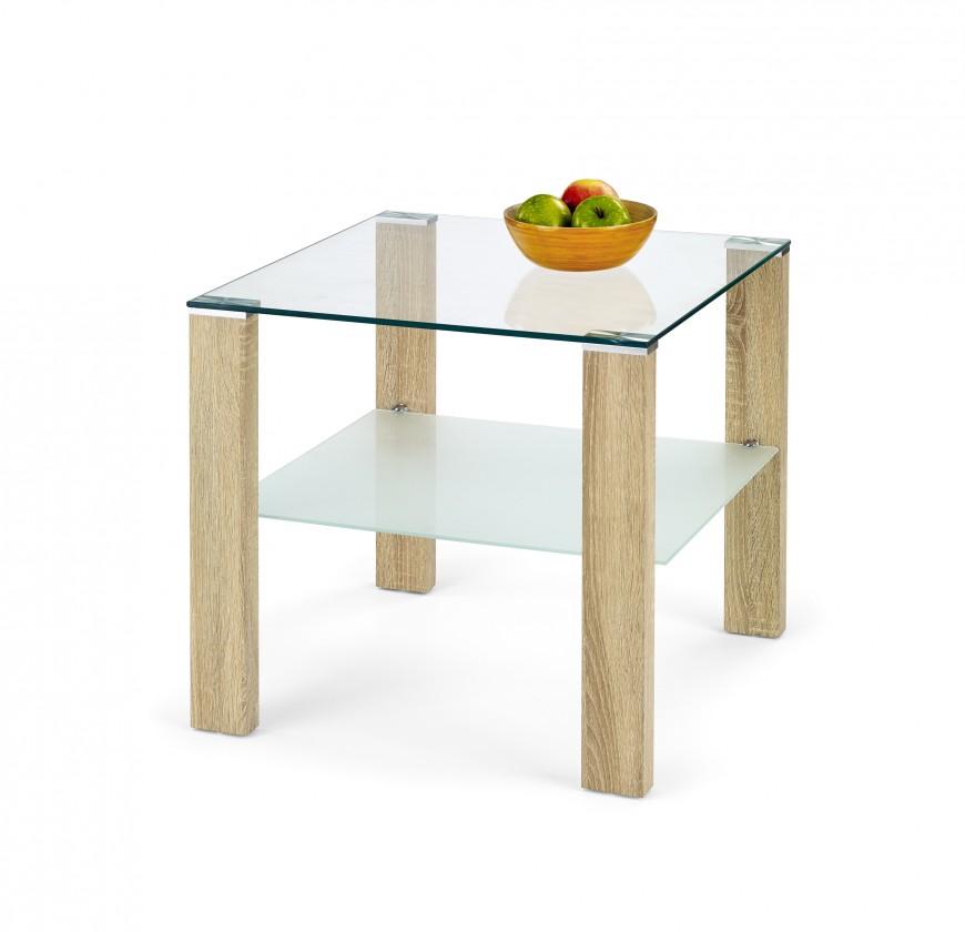 Konferenční stolek - skleněný Simple H Kwadrat - konferenční stolek