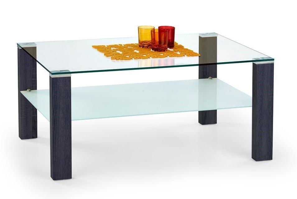 Konferenční stolek - skleněný Simple H(wenge)