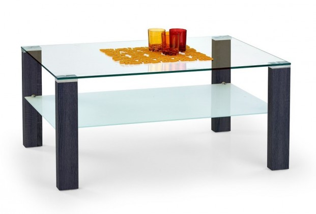 Konferenční stolek - skleněný Simple(wenge)