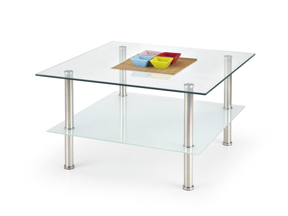 Konferenční stolek - skleněný Tesla - Konferenční stolek (sklo/kov)