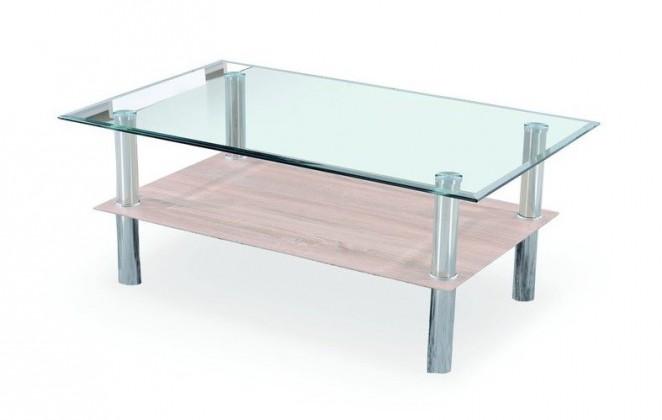 Konferenční stolek - skleněný Vectra(dub sonoma)