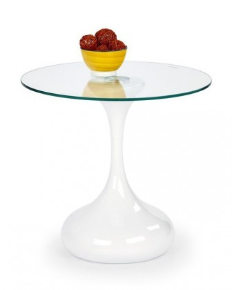 Konferenční stolek - skleněný Vesta(bílá)