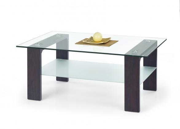 Konferenční stolek - skleněný Vicky - Konferenční stolek (wenge)
