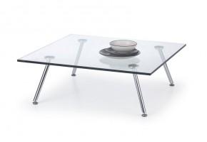 Konferenční stolek Solo - čtvercový (transp. sklo, nohy chrom)