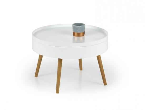 Konferenční stolek Starlet (bílá, dub sonoma)