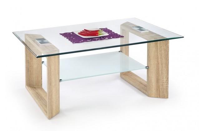 Konferenční stolek Tamara (dub sonoma/ mléčné sklo)