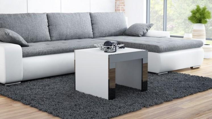 Konferenční stolek Tess - čtvercový (bílá, černá)