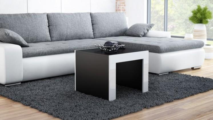Konferenční stolek Tess - čtvercový (černá, bílá)