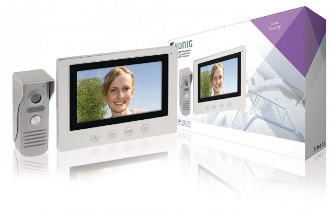 """KÖNIG 7"""" Dveřní Videotelefon - SAS-VDP100"""