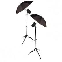König foto studio - 2x deštníky,stojany,lampy 200W POŠKOZEN OBAL