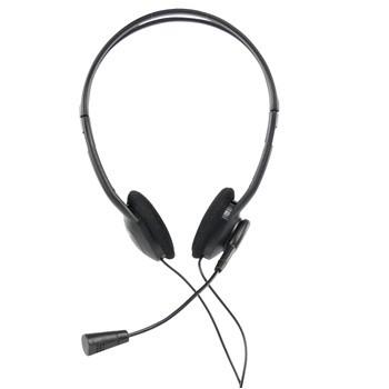 KÖNIG souprava sluchátka s mikrofonem k PC, černá-CMP-HEADSET14
