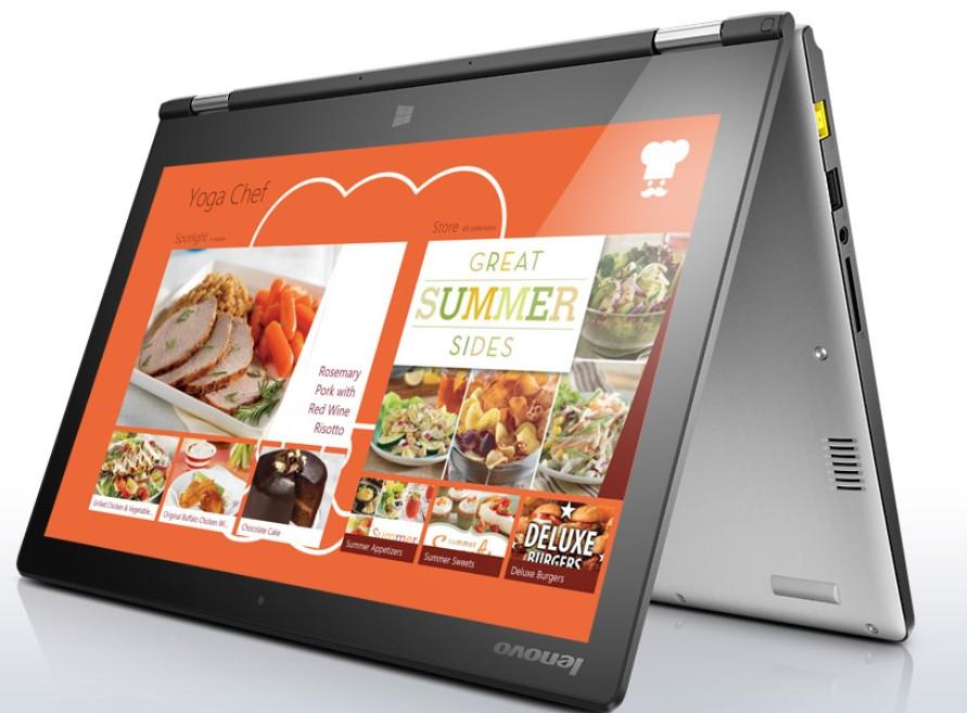 Konvertibilní, 2v1 Lenovo Notebook Multimode Premium YOGA 2 13 Silver 59-433650