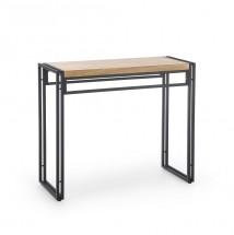 Konzolový stolek Tilia (dub zlatý, černá)