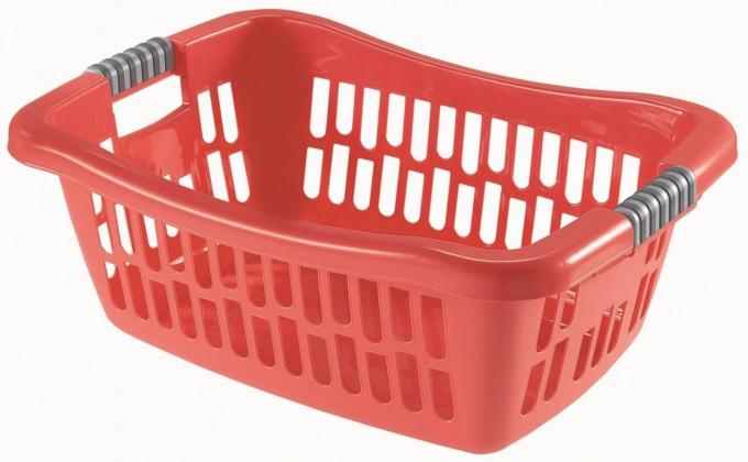 Koš na čisté prádlo ALTHEA, červená