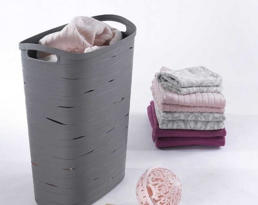 Koš na prádlo Ribbon 49l šedý