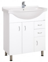 Koupelnová skříňka s umyvadlem Cara Mia 70,5x85x50,5cm,bílá,lesk