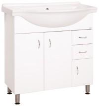 Koupelnová skříňka s umyvadlem Cara Mia (80x85x50 cm, bílá,lesk)