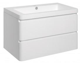Koupelnová skříňka s umyvadlem Praya závěsná 105x53x48,bílá,lesk