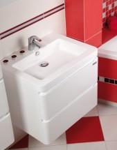 Koupelnová skříňka s umyvadlem Praya závěsná 64x53x48, bílá,lesk