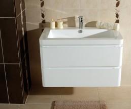 Koupelnová skříňka s umyvadlem Praya závěsná 85x53x48, bílá,lesk