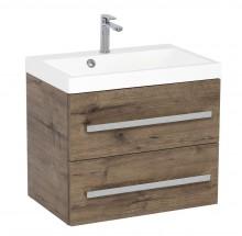 Koupelnová skříňka s umyvadlem Tiera závěsná (60x53x40 cm, dub)
