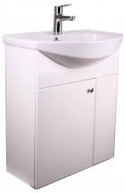 Koupelnový set - skříňka s umyvadlem a baterií (bílá)