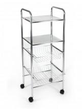 Koupelnový vozík, 98 cm (chrom)