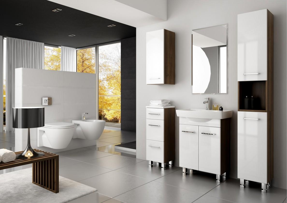Koupelny ZLEVNĚNO Roma 1 - koupelnová sestava s umyvadlem (bílá)