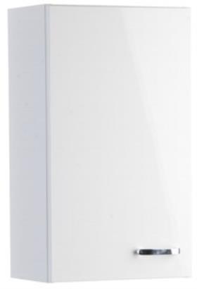 Koupelny ZLEVNĚNO Sella silver - Skříňka záv. horní (bílá)