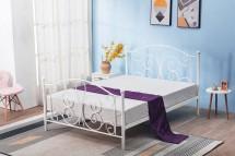 Kovová postel Beatrix 120x200, bílá, bez matrace a ÚP