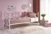 Kovová postel Jasmina 90x200, bílá, bez matrace a ÚP