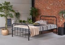 Kovová postel Niko 120x200, černá, bez matrace