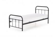 Kovová postel Niko 90x200, černá, bez matrace