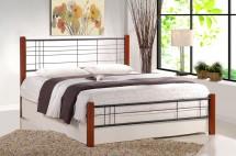 Kovová postel Vera 160x200 cm, třešeň, černá