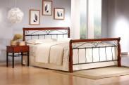 Kovová postel Verona 160x200 cm, třešeň, černá