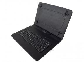 """Kožené pouzdro s klávesnicí iGET S10B pro tablet 10"""", černé"""