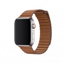 Kožený magnet. řemínek pro Apple watch 38/40 mm, Loop, hnědá