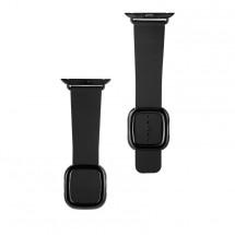 Kožený magnetický řemínek pro Apple watch 38/40 mm, černá